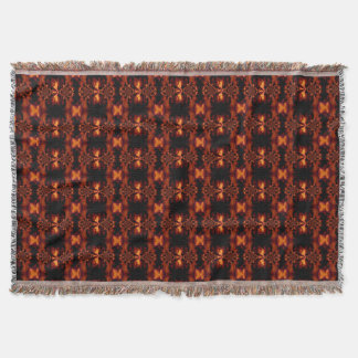 Fire Orchid 1 Throw Blanket