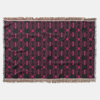Fire Orchid 2 Throw Blanket