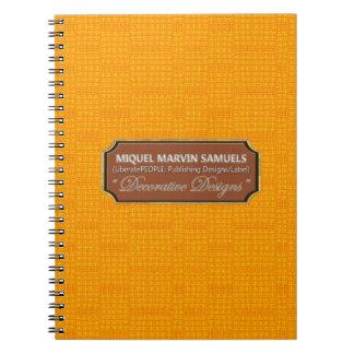 Fire Pattern Decorative Modern Notebook