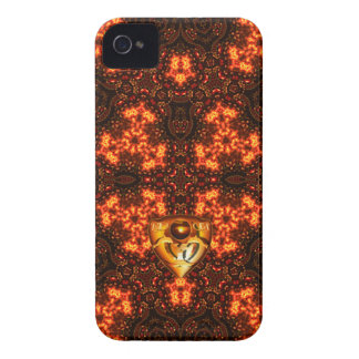 Fire-PatternWall Blackberry Case-Mate iPhone 4 Cases