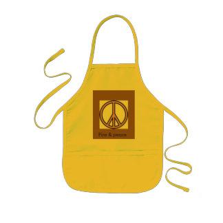 Fire & peace kids apron