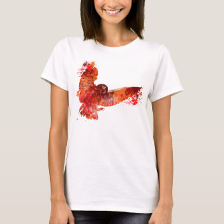 Fire phenix owl colour splash T-Shirt