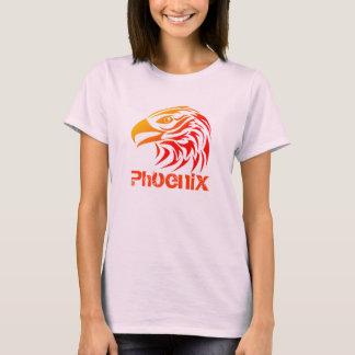 Fire Phoenix (F, w/ Text, Color Option) T-Shirt