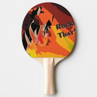 Fire Ping Pong Paddle
