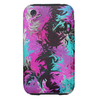 Fire Pink and Blue iPhone 3G/3GS Case