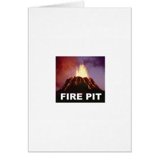 fire pit art card