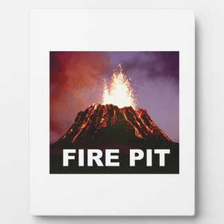 fire pit art plaque