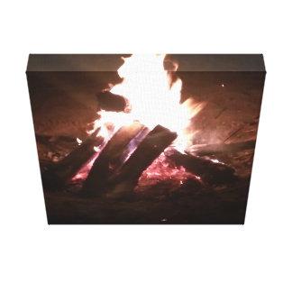 Fire pit picture canvas print
