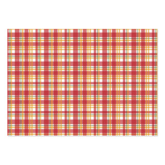 Fire Plaid Pack Of Chubby Business Cards