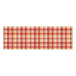 Fire Plaid Pack Of Skinny Business Cards
