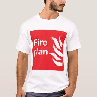 Fire Plan Sign Mens T-Shirt