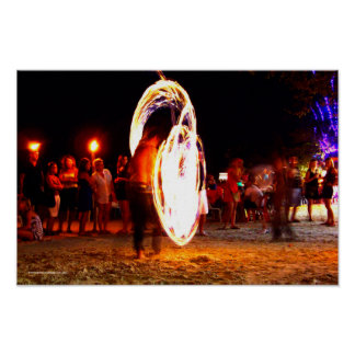 Fire Poi Full Moon Party Poster