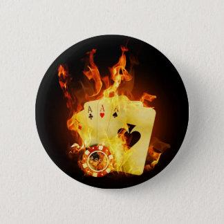 Fire Poker 6 Cm Round Badge