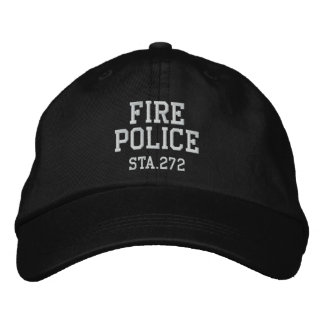 fire police hat embroidered baseball caps