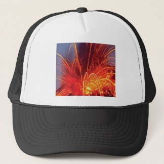 fire pop trucker hat