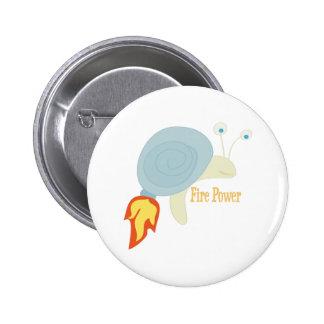 Fire Power 6 Cm Round Badge