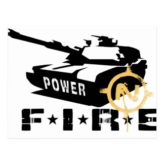 Fire Power Military Canon Postcard