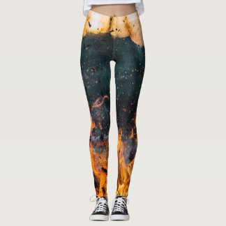 Fire Print Leggings