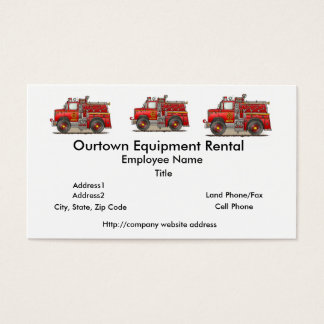 Fire Pumper Rescue Truck Business Card