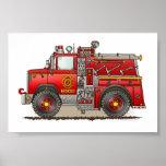 Fire Pumper Rescue Truck Posters