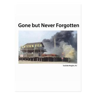 Fire rages along NJ boardwalk damaged by Sandy Postcard
