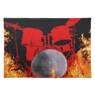 Fire Red Drums Placemat
