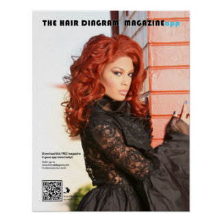 Fire Red Frontlace Wig Poster