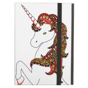 Fire Red Unicorn iPad Air Cover