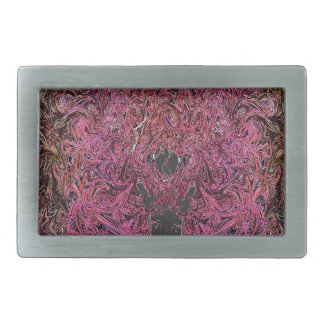 Fire reflections rectangular belt buckle