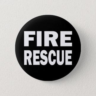 FIRE RESCUE 6 CM ROUND BADGE