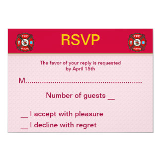 Fire-Rescue EMT Wedding RSVP Cards