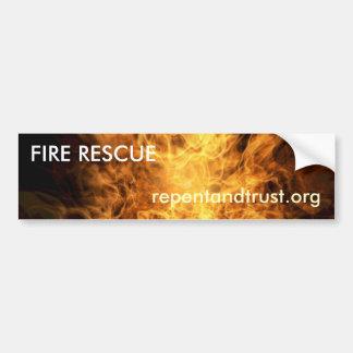 Fire Rescue - Evangelistic Bumper Sticker
