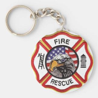 Fire Rescue Maltese Cross Key Ring