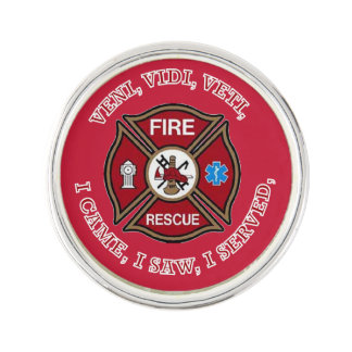 Fire Rescue Maltese Cross VVV Lapel Pin