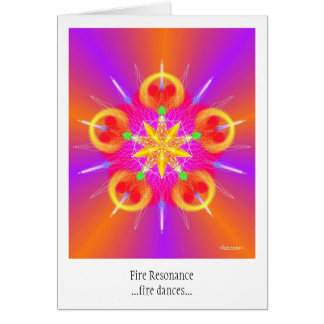 Fire Resonance Greeting Card
