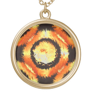 """""""Fire Rings"""" By Douglas J. Moore Gold Plated Necklace"""