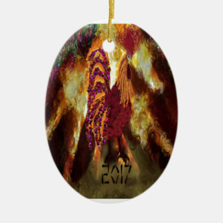 Fire Rooster 2017 Ceramic Ornament