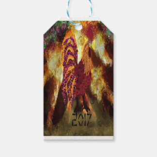 Fire Rooster 2017 Gift Tags