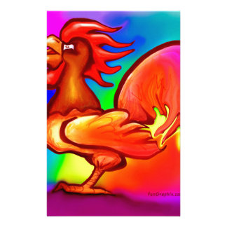 Fire Rooster Stationery