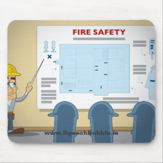 Fire Safety Mouse Mat