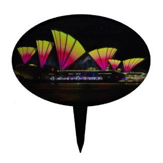 Fire Sails - Sydney Vivid Festival - Sydney Opera Cake Toppers