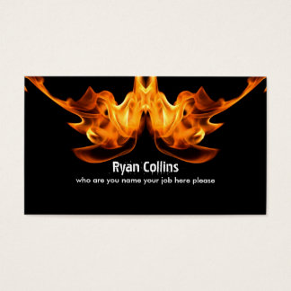 fire sign business card