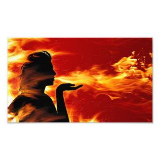 Fire Silhouette Photo Print
