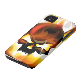 fire skull iPhone 4 cases