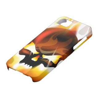 fire skull iPhone 5 cover
