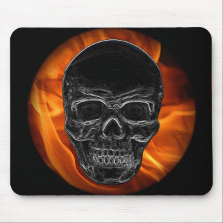 Fire Skull Mouse Pad