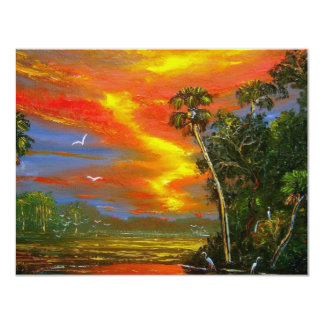 Fire Sky Sunset 11 Cm X 14 Cm Invitation Card