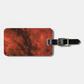 fire smoke art luggage tag