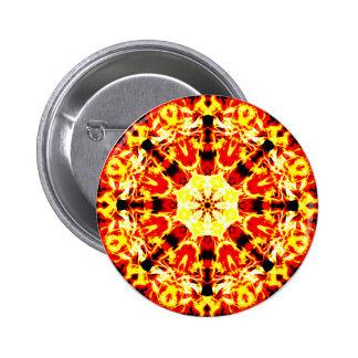 Fire Spinner Mandala 6 Cm Round Badge