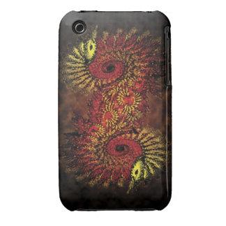 Fire spiral fractal pattern iPhone 3 case